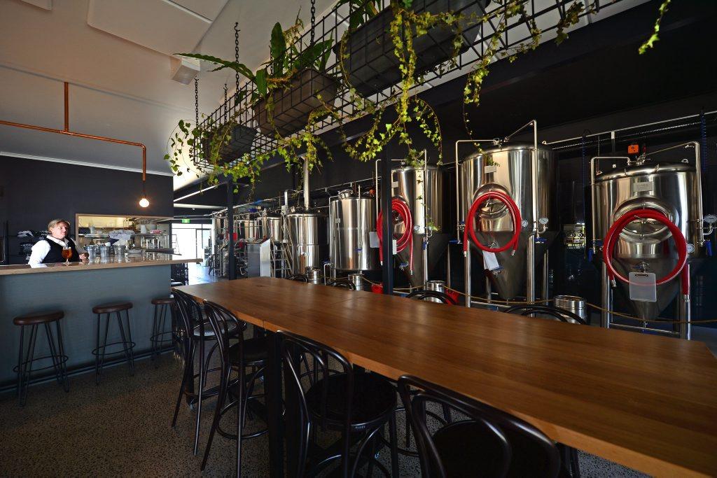 Amanda Fea at the new Maleny brewery Brouhaha. Photo: John McCutcheon / Sunshine Coast Daily