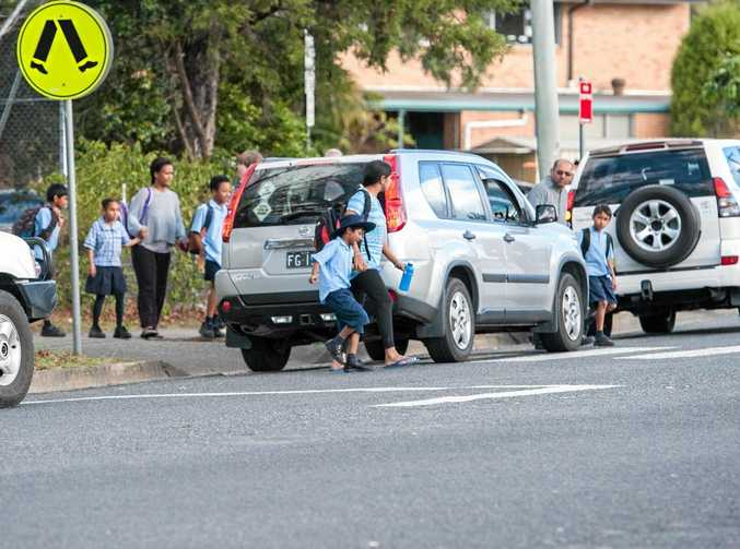CONGESTED: Speeding and heavy traffic around a school crossing on Albany St is a growing concern.