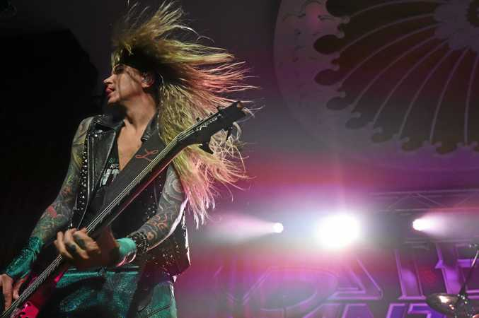 Steel Panther rock the Eatons Hill Hotel in Brisbane with the gender bending showstopping antics. Photo Marc Stapelberg / The Northern Star