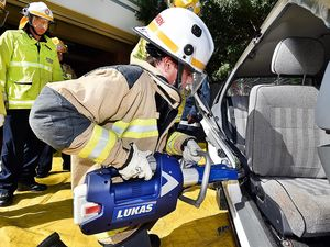 WATCH: Fire fighters cut up car with new jaws of life tools