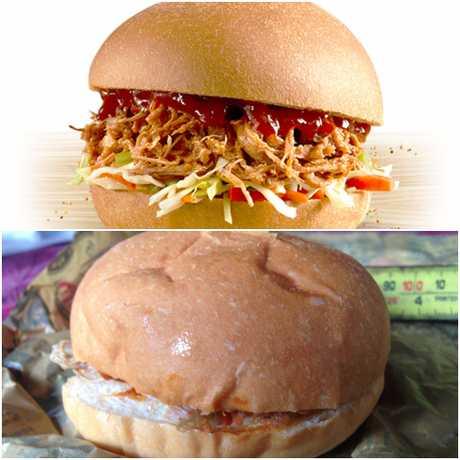 KFC burger. Expectation vs reality