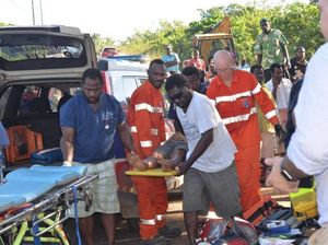 Vanuatu crash victims arrive in Australia