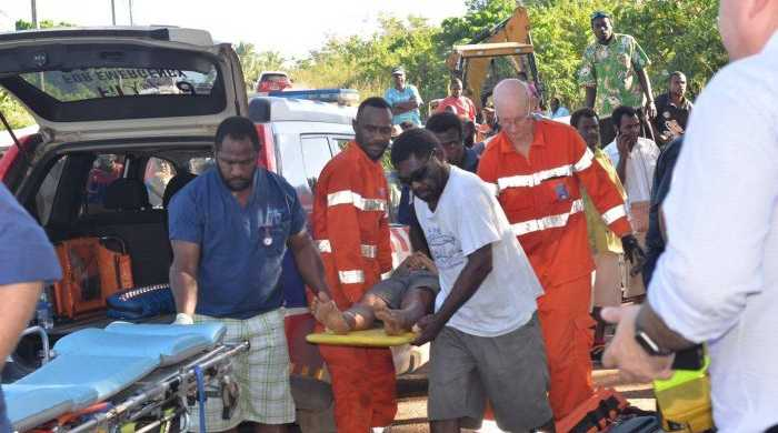 The Australian passengers are being flown to Noumea and Brisbane for urgent care. (Facebook: Vanuatu Daily Post/ Glenda S.Willie)