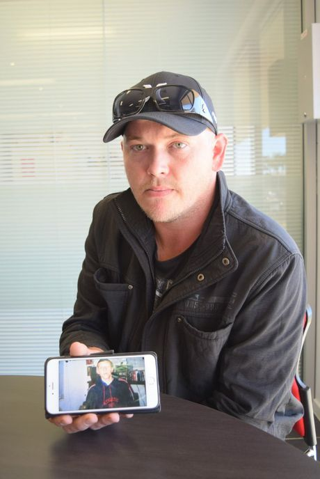 Troy Dixon misses his friend Matt Cooper who was killed by a reckless driver. Photo: Craig Warhurst/News mail