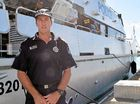 HIGH TECH: Whitsunday Water Police officer in charge Sergeant Graeme Pettigrew with the Damian Leeding.