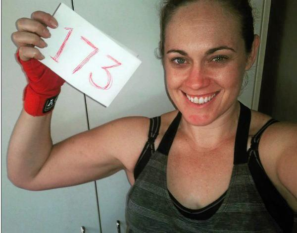 INSPIRING MANY: Goondiwindi woman Brooke Saxby on day 173 of her daily work outs. Her goal to exercise every day this year has attracted a following.