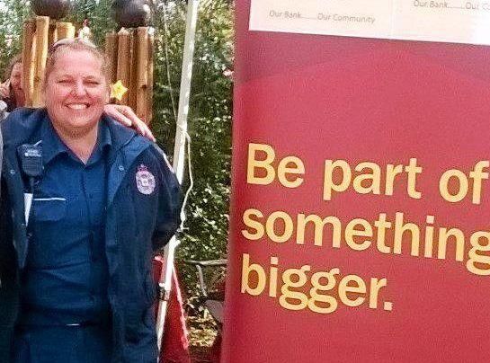 ON ITS WAY: Toogoolawah Ambulance station officer Tanya King ready to sign up for Bendigo Bank.