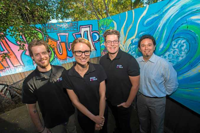 REACHING OUT: Mission Australia staff Ben Ainsley, Cassie Critten, Josh Dooner and Jesse Taylor have been recognised at the NADA Awards.