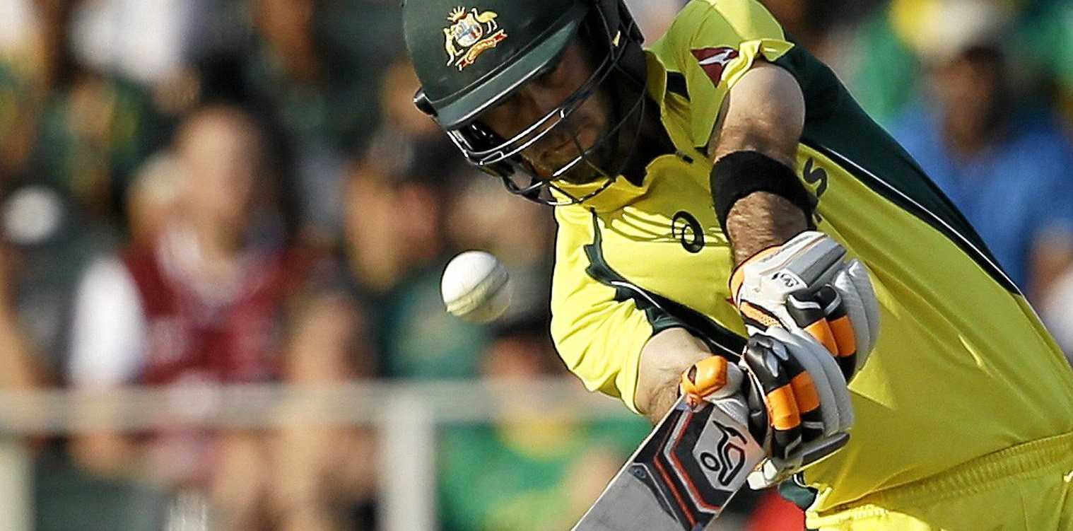 VITAL KNOCK: Australia's batsman Glenn Maxwell hit a quick-fire 46 to help his side beat the West Indies in Barbados.