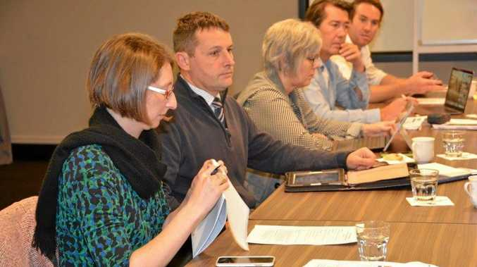 James McTavish (second from left) with other members of the Cross-B Business Advisory Committee at Twin Towns on Wednesday