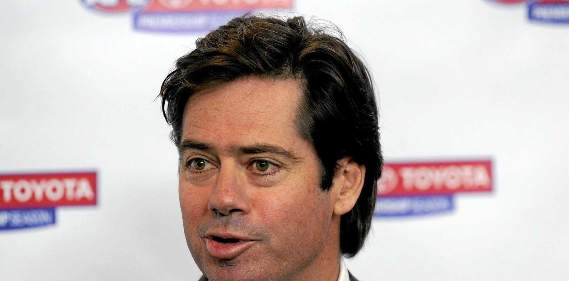 STANDING FIRM: AFL CEO Gillon McLachlan has back Richmond's plans to boycott interviews with Triple M this weekend.