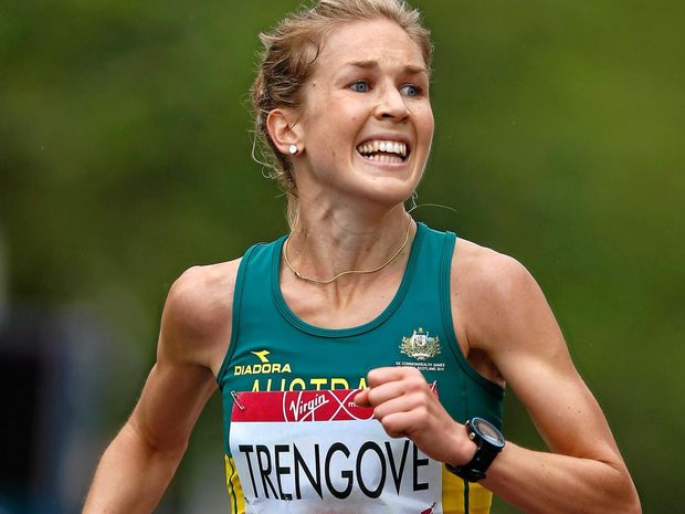 TALENTED FAMILY: Jess Trengove claims bronze in the marathon at the 2014 Commonwealth Games.