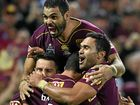 CHAMPIONS AGAIN: Queensland players celebrate.