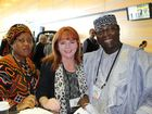Louisette Fomba, Hazel Malone and Francis Njuakom Nchii at the IFA 13th Global Conference in Brisbane.