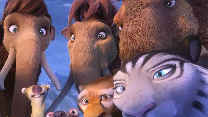 A scene from the movie Ice Age: Collision Course.