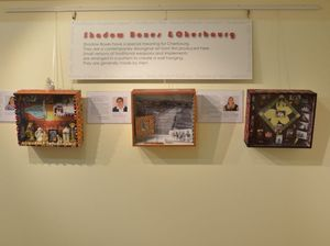Shadow boxes share the stories of Indigenous women