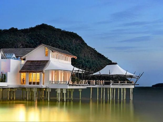 The amazing Kayuputi over-water restaurant is one of the features of the new St Regis Langkawi.