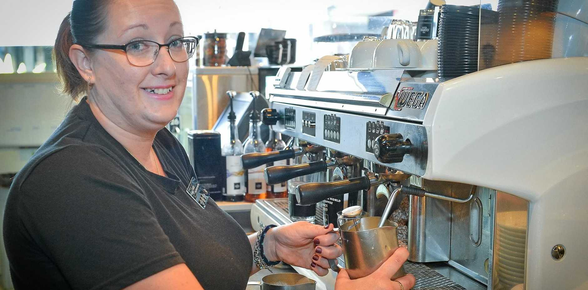 Sara Senius, a barista at the Gladstone Grand Hotel The Coffee Club.