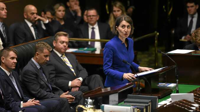GO FIGURE: New South Wales Treasurer Gladys Berejiklian delivers her budget for 2016-17  to the Legislative Assembly at the NSW Parliament House in Sydney on Tuesday.