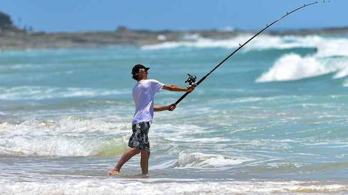 Fishing at Point Cartwright.