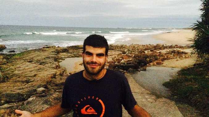 Italian tourist Samuel Galli got stuck in a rip at Point Arkwright.