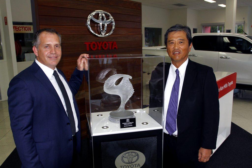 Ken Mills Toyota >> President S Award Toyota Nambour S Big Win Sunshine Coast