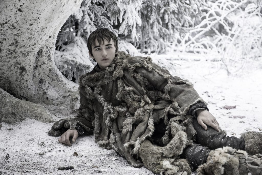 Isaac Hempstead Wright in a scene from season six episode 10 of Game of Thrones. Supplied by Foxtel.