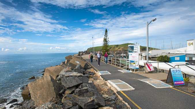 NORTH BREAKWALL: You can still walk a section of the breakwall to take in the view.