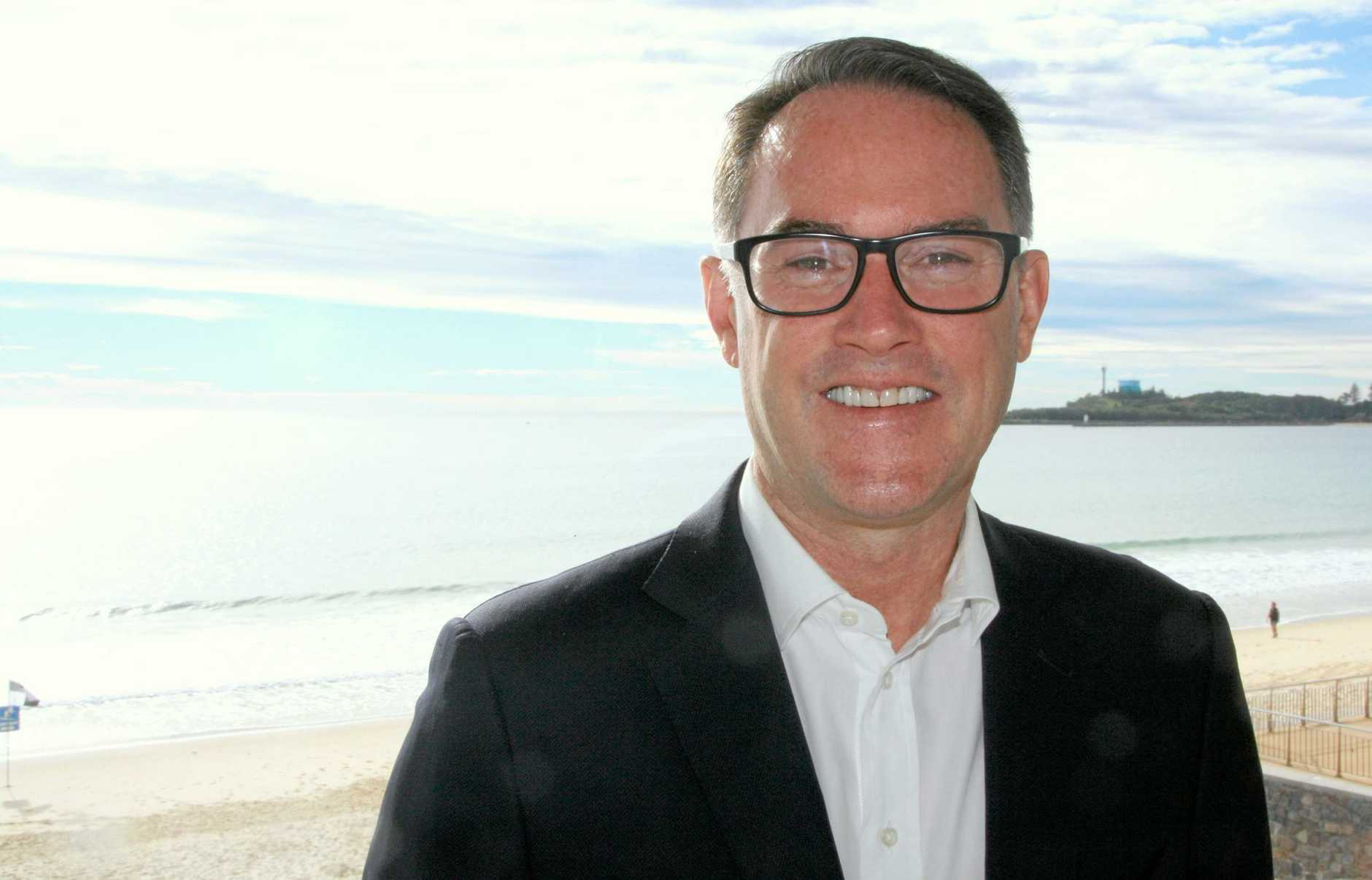 Jogn McGrath of McGrath Estate Agents at Mooloolaba Surf Club.