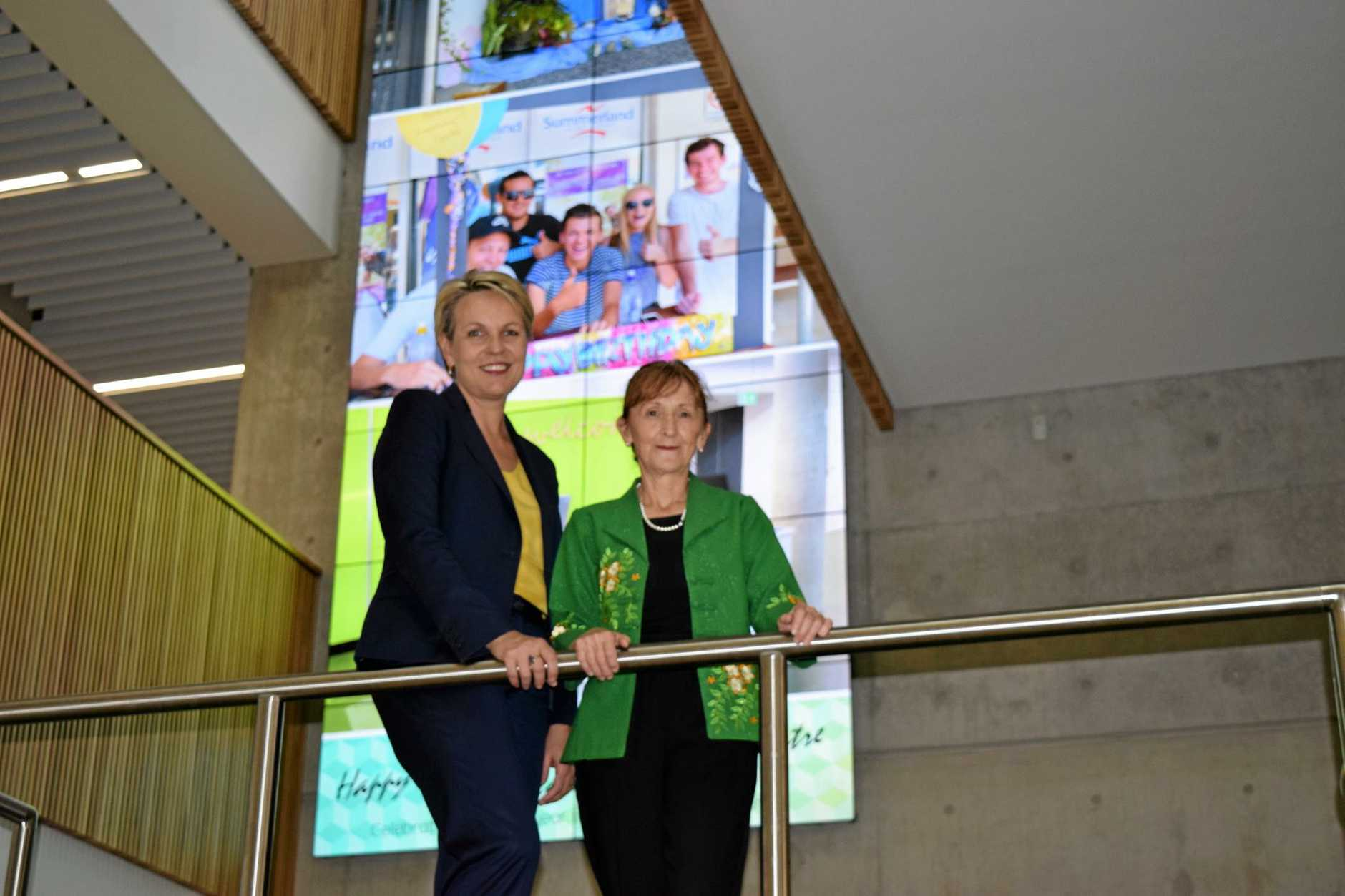 BATTLEGROUND: Deputy Opposition leader Tanya Plibersek and Labor candidate for Page Janelle Saffin have met frequently during the campaign.