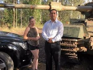 'Destroy my Jeep' guy finds tank to crush family's Dodge