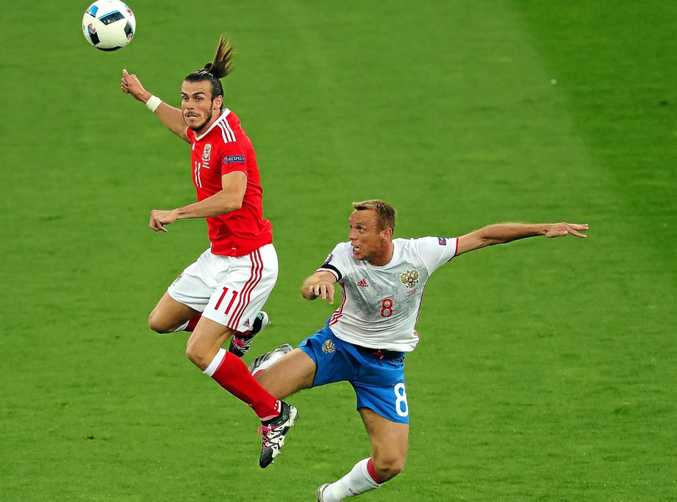 TOP SCORER: Gareth Bales in action for Wales against Russia at Euro 2016.