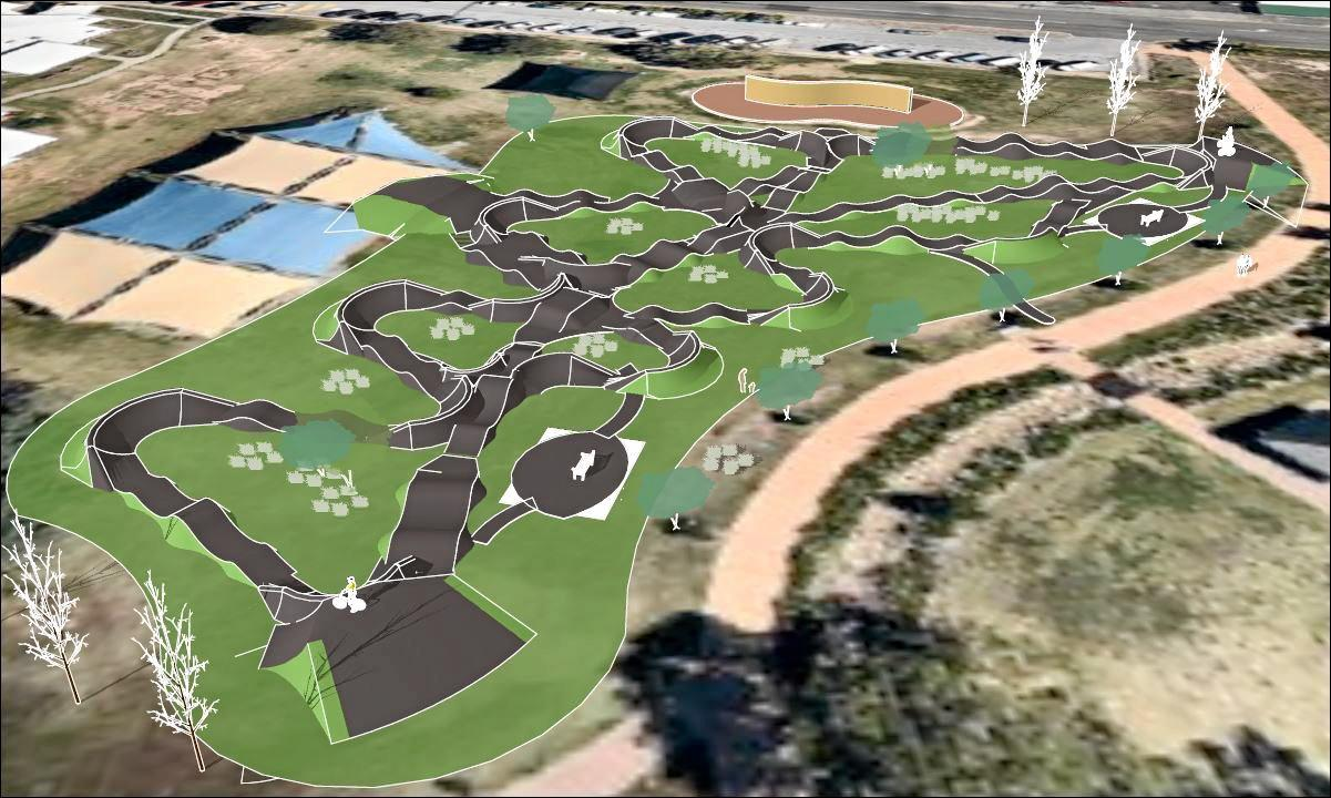 The proposed Pump Track at Memorial Park in Gladstone.