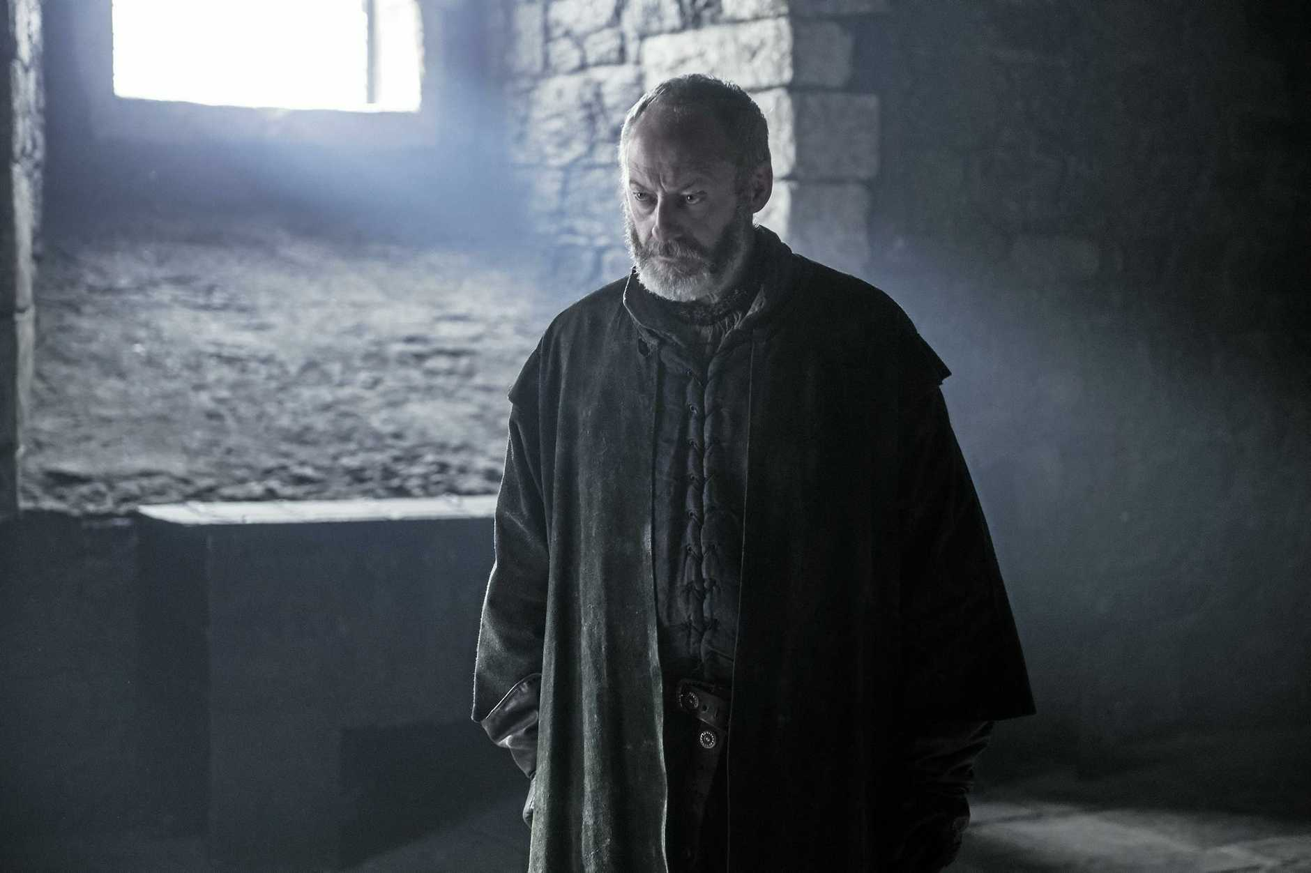 Liam Cunningham in a scene from season six episode 10 of Game of Thrones. Supplied by Foxtel.