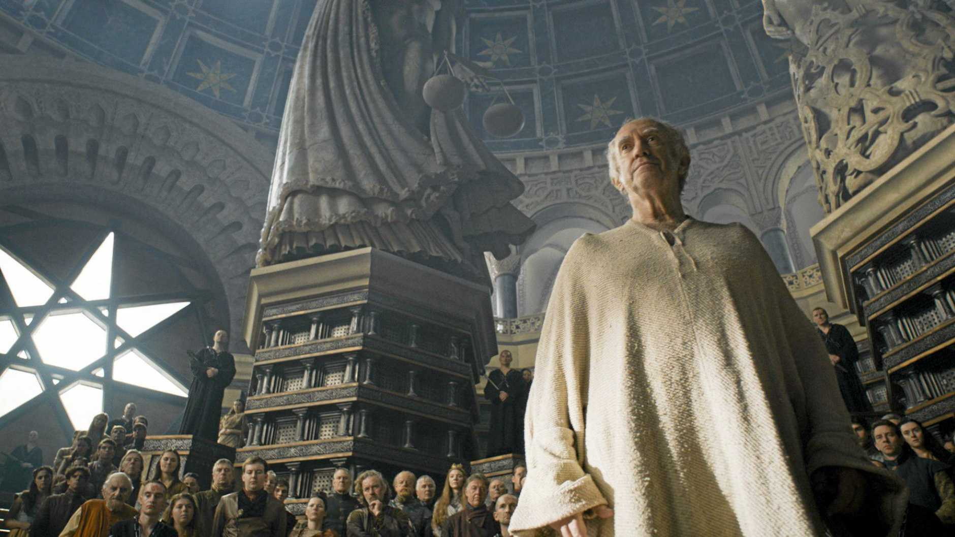 Jonathan Pryce in a scene from season six episode 10 of Game of Thrones. Supplied by Foxtel.