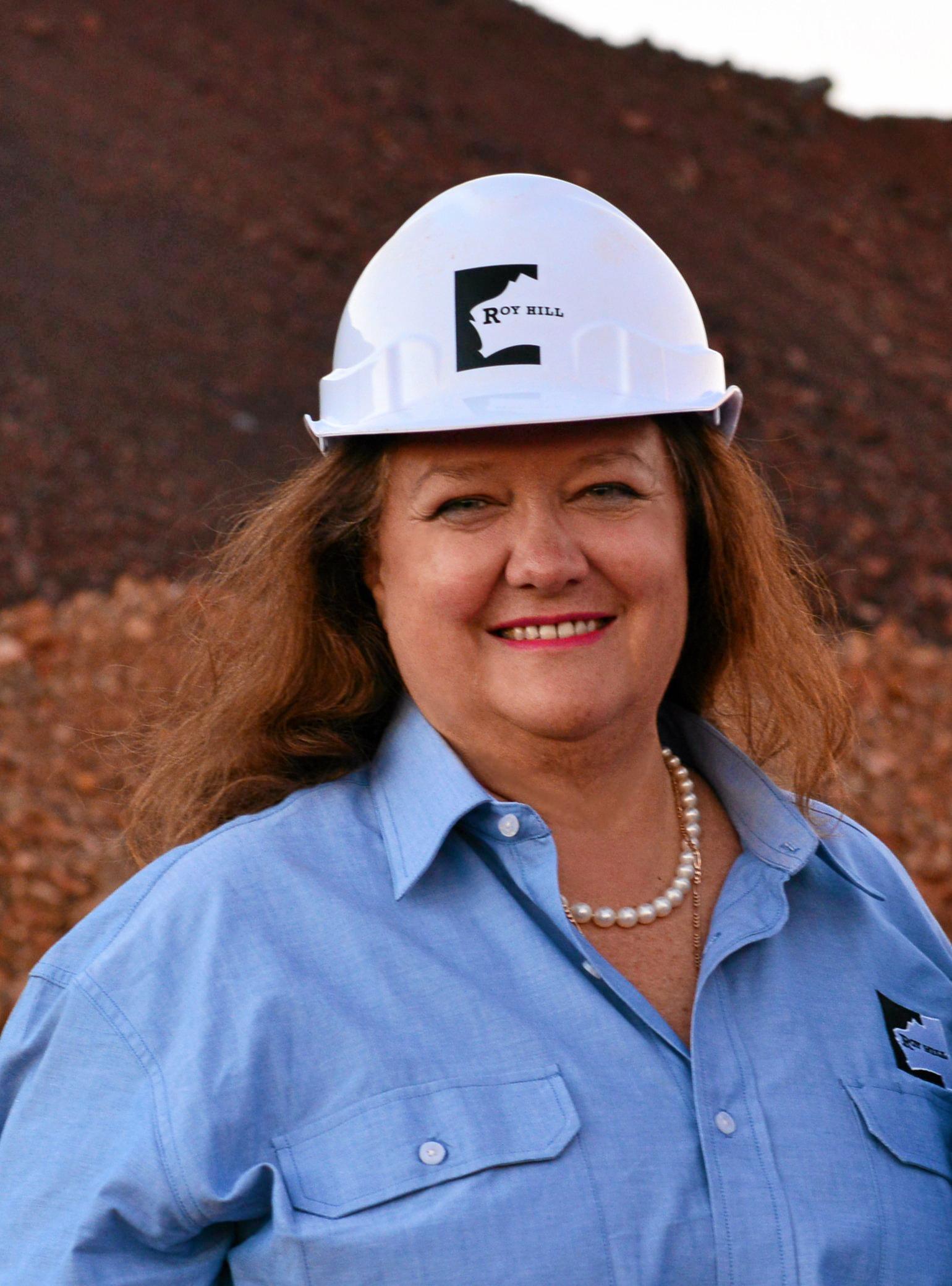 Australia's richest woman, Gina Rinehart.