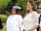 Gina Rinehart (left) and her youngest daughter Ginia who is tipped to marry Sunshine Coast man Simon Robinson.