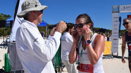 Hamilton Island CEO Glenn Bourke at the run.Photo Chris Lees / Daily Mercury