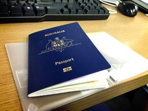 Australian passport.Photo Cas Garvey / Daily Mercury