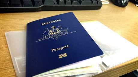 Australian passport.Photo Cas Garvey / Daily Mercury