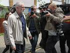 Labour leader Jeremy Corbyn leaves his house in London, Sunday June 26, 2016. Corbyn seems to be facing a revolt by some members of his shadow cabinet, as a string of shadow ministers quit Sunday in protest at his leadership during the EU referendum campaign.