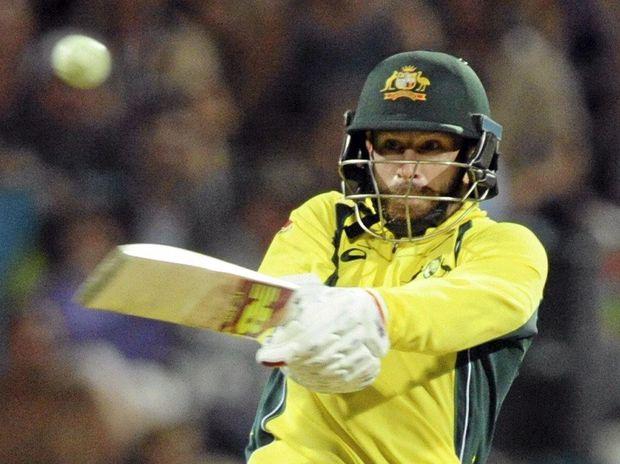 VITAL KNOCK: Australia's Matthew Wade hit an unbeaten 57 against the West Indies.