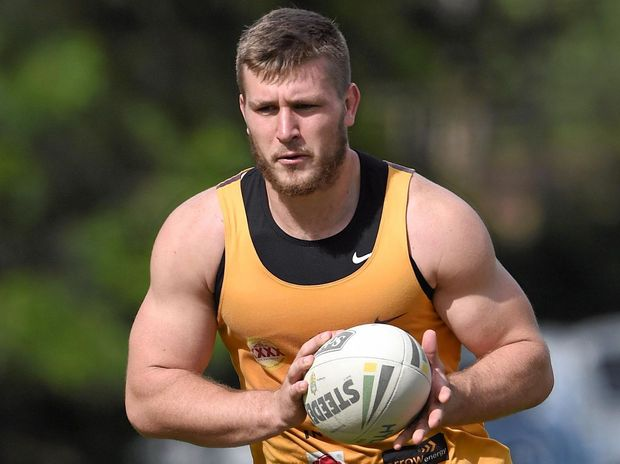 RISING STAR: Jai Arrow during a Brisbane Broncos training session at Red Hill in Brisbane.