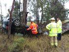 A crash on the southern outskirts of Warwick.