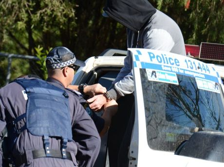 Police making arrests at Nimbin.