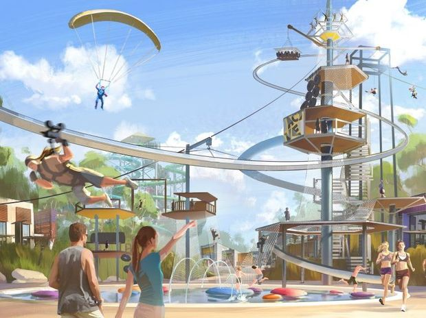 A sketch of the proposed new water park