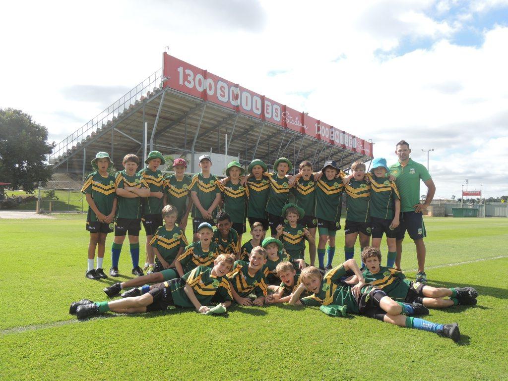 FOOTY FANS: Members of the Proserpine Junior Rugby League visited the North Queensland Cowboys stadium last week.