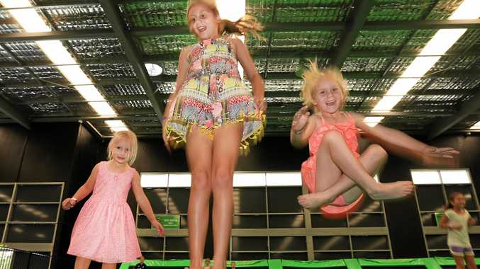Banora Point Siblings Imogen (10), Amelia (4) and Melita Scott (6) at