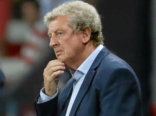 BUNDLED OUT: England's coach Roy Hodgson reacts during the Euro 2016 round of 16 match between England and Iceland at Stade de Nice.