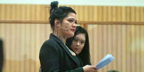 Moko Rangitoheriri's mother Nicola Daly Paki delivers an emotional victim impact statement in court yesterday.